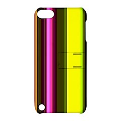 Stripes Abstract Background Pattern Apple iPod Touch 5 Hardshell Case with Stand