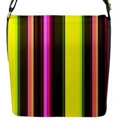 Stripes Abstract Background Pattern Flap Messenger Bag (S)