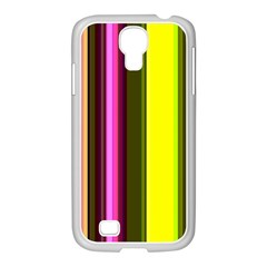 Stripes Abstract Background Pattern Samsung GALAXY S4 I9500/ I9505 Case (White)