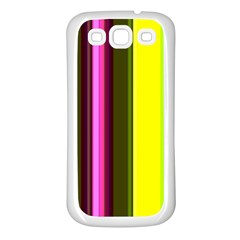 Stripes Abstract Background Pattern Samsung Galaxy S3 Back Case (White)