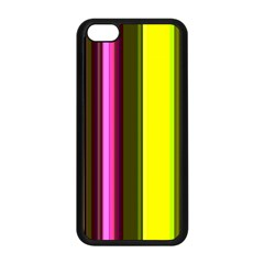 Stripes Abstract Background Pattern Apple iPhone 5C Seamless Case (Black)