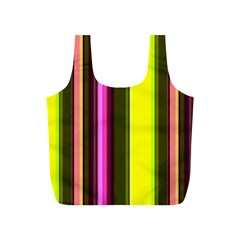 Stripes Abstract Background Pattern Full Print Recycle Bags (S)
