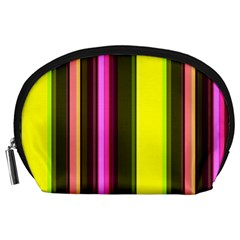 Stripes Abstract Background Pattern Accessory Pouches (Large)