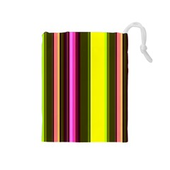 Stripes Abstract Background Pattern Drawstring Pouches (Medium)