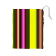 Stripes Abstract Background Pattern Drawstring Pouches (large)