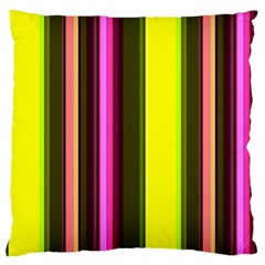 Stripes Abstract Background Pattern Large Flano Cushion Case (one Side)