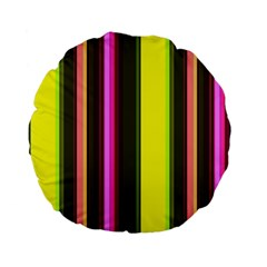Stripes Abstract Background Pattern Standard 15  Premium Flano Round Cushions