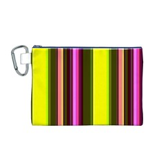 Stripes Abstract Background Pattern Canvas Cosmetic Bag (M)