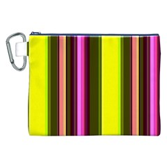 Stripes Abstract Background Pattern Canvas Cosmetic Bag (XXL)