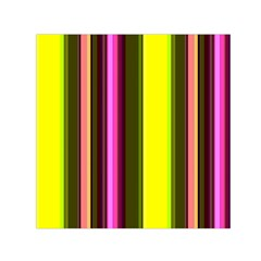 Stripes Abstract Background Pattern Small Satin Scarf (Square)