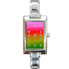 Watercolour Abstract Paint Digitally Painted Background Texture Rectangle Italian Charm Watch