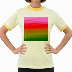 Watercolour Abstract Paint Digitally Painted Background Texture Women s Fitted Ringer T Shirts