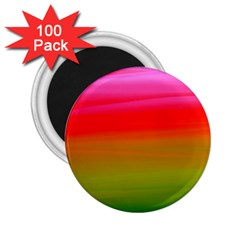 Watercolour Abstract Paint Digitally Painted Background Texture 2 25  Magnets (100 Pack)