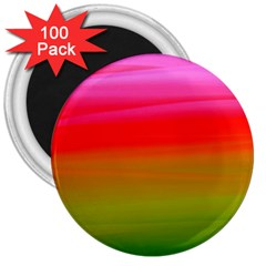Watercolour Abstract Paint Digitally Painted Background Texture 3  Magnets (100 Pack)