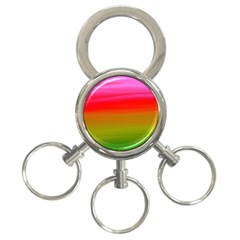 Watercolour Abstract Paint Digitally Painted Background Texture 3 Ring Key Chains
