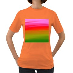 Watercolour Abstract Paint Digitally Painted Background Texture Women s Dark T Shirt