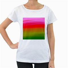 Watercolour Abstract Paint Digitally Painted Background Texture Women s Loose Fit T Shirt (white)