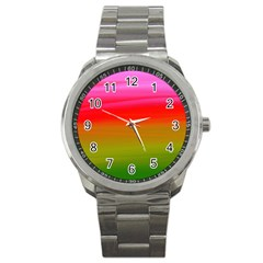 Watercolour Abstract Paint Digitally Painted Background Texture Sport Metal Watch