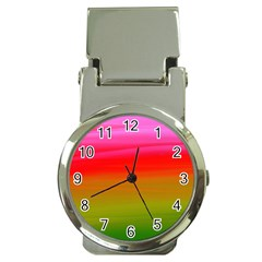 Watercolour Abstract Paint Digitally Painted Background Texture Money Clip Watches