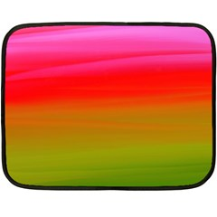 Watercolour Abstract Paint Digitally Painted Background Texture Double Sided Fleece Blanket (Mini)