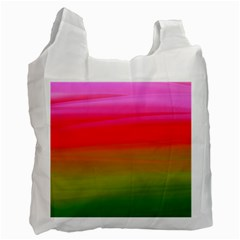 Watercolour Abstract Paint Digitally Painted Background Texture Recycle Bag (two Side)