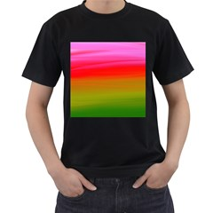 Watercolour Abstract Paint Digitally Painted Background Texture Men s T Shirt (black)