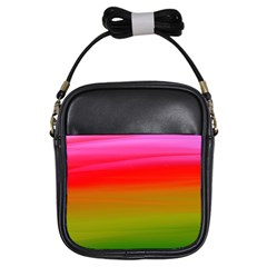 Watercolour Abstract Paint Digitally Painted Background Texture Girls Sling Bags