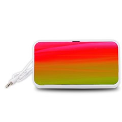 Watercolour Abstract Paint Digitally Painted Background Texture Portable Speaker (White)