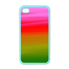 Watercolour Abstract Paint Digitally Painted Background Texture Apple Iphone 4 Case (color)