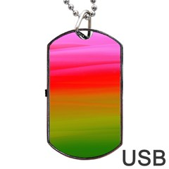 Watercolour Abstract Paint Digitally Painted Background Texture Dog Tag Usb Flash (one Side)