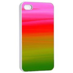 Watercolour Abstract Paint Digitally Painted Background Texture Apple Iphone 4/4s Seamless Case (white)