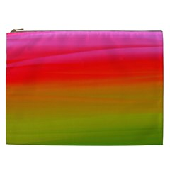 Watercolour Abstract Paint Digitally Painted Background Texture Cosmetic Bag (xxl)