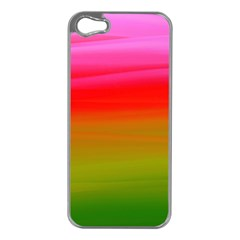Watercolour Abstract Paint Digitally Painted Background Texture Apple Iphone 5 Case (silver)