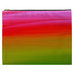 Watercolour Abstract Paint Digitally Painted Background Texture Cosmetic Bag (xxxl)