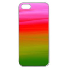 Watercolour Abstract Paint Digitally Painted Background Texture Apple Seamless iPhone 5 Case (Clear)