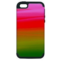 Watercolour Abstract Paint Digitally Painted Background Texture Apple Iphone 5 Hardshell Case (pc+silicone)