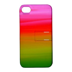 Watercolour Abstract Paint Digitally Painted Background Texture Apple Iphone 4/4s Hardshell Case With Stand
