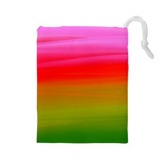 Watercolour Abstract Paint Digitally Painted Background Texture Drawstring Pouches (Large)
