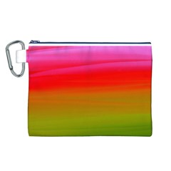 Watercolour Abstract Paint Digitally Painted Background Texture Canvas Cosmetic Bag (l)