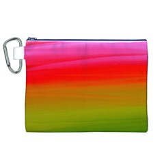 Watercolour Abstract Paint Digitally Painted Background Texture Canvas Cosmetic Bag (xl)