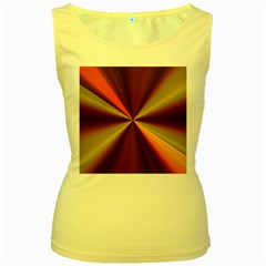 Copper Beams Abstract Background Pattern Women s Yellow Tank Top