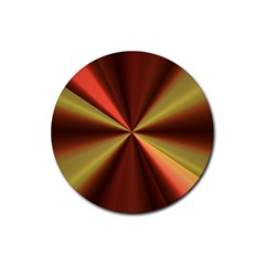 Copper Beams Abstract Background Pattern Rubber Round Coaster (4 pack)