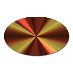 Copper Beams Abstract Background Pattern Oval Magnet