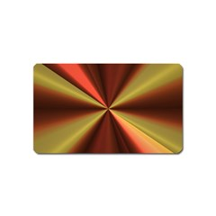 Copper Beams Abstract Background Pattern Magnet (name Card)