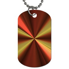 Copper Beams Abstract Background Pattern Dog Tag (two Sides)