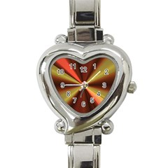 Copper Beams Abstract Background Pattern Heart Italian Charm Watch