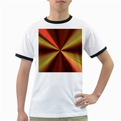 Copper Beams Abstract Background Pattern Ringer T-Shirts