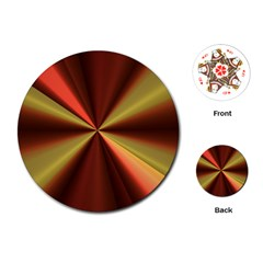 Copper Beams Abstract Background Pattern Playing Cards (Round)