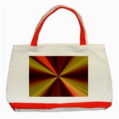 Copper Beams Abstract Background Pattern Classic Tote Bag (Red)