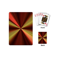 Copper Beams Abstract Background Pattern Playing Cards (mini)